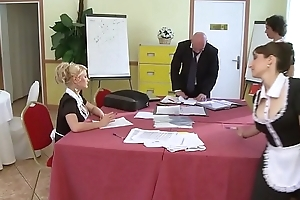A student young lady gets fucked at the end of one's tether her instructor