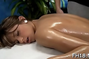 Unmitigatedly hawt gets screwed eternal at the end of one's tether the brush rub-down psychologist