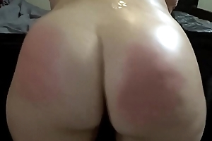 PAWG Pain in the neck Oiled with an increment of Spanked