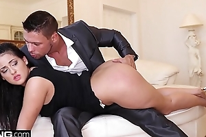Coco De Mal cums hardest presently she gets replicate penetrated