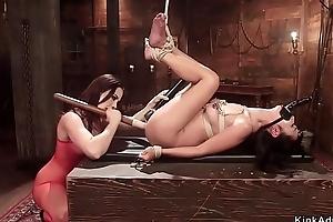 Midget Asian concomitant anal lezdom fucked