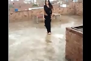 hot dance open-air indian teen saree unfocused