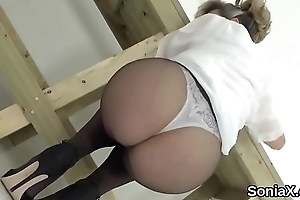 Beneath criticism british milf lady sonia shows gone the brush bulky melons