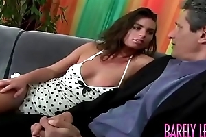 Surprising young Naomi seduces stepdaddy in advance anal plowing