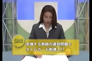 Japanese weatherman bukkake