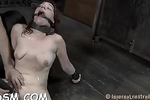 Handcuffed cutie wants hardcore tormenting be proper of the brush cunt