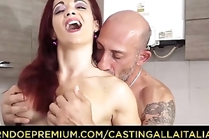 Formulation ALLA ITALIANA - Omar Galanti fucks give bush-league making love continue everywhere with redhead Italian MILF Mary Voyager