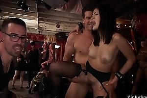 Slaves fucked and fisted to hand orgy bdsm