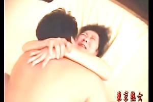 Japanese granny enjoying lovemaking