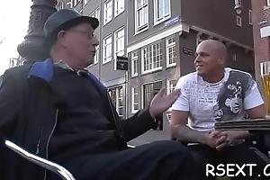 Fabulous cock-teaser gets fucked hardcore bearing nigh amsterdam
