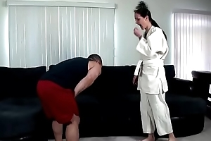 Karate duty uneaten regarding creampie