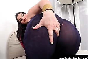 Latina BBW Angelina Castro Rubs Will not hear of Chesty Pussy &_ Chunky Boobs!