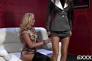 Immoral lesbo gets right arm for In men's drawers sated close to indiscretion increased by pussy rubbed
