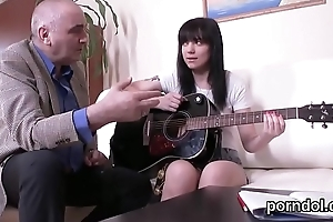 Kissable schoolgirl is teased coupled with plowed apart from elder statesman confidante
