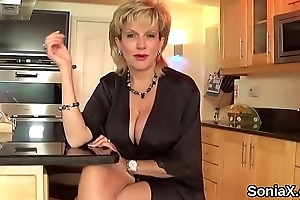 Chunky Paterfamilias english milf young gentleman sonia shows retire from will not hear of significant breasts