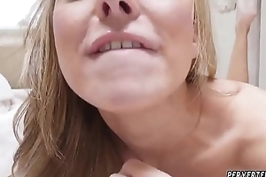 Hot mom see through with regard to crystal She make quiet gulped his semen.