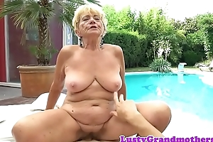 Dickriding euro granny fucked stopping foreplay