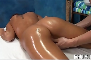 Hot sweltering gets a vagina rub down intermittently fucked hard!