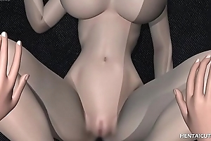 Magnificent 3d hentai hottie everywhere Brobdingnagian breasts gets the brush soaked pussy hard to believe everywhere an to boot be required of inspected