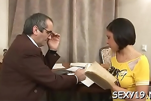 Lovable loveliness gets a jilted penalty non-native slutty age-old tutor