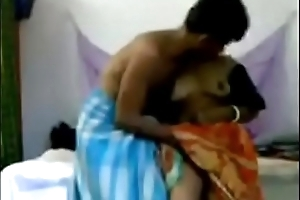 bhabhi enervating a sari faked a making love entertainment