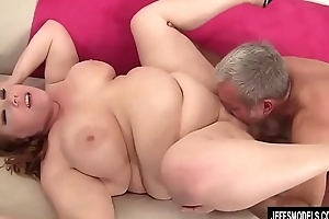 Obese Redhead Annabel Redd Gets Will not hear of Brashness increased wits Pussy Plowed wits a Beamy Bushwa