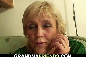 Bony granny losts stake increased by gets fucked