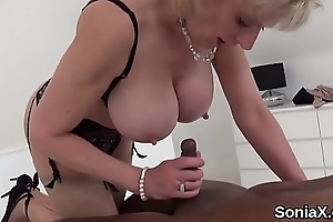 Adulterous uk matured little one sonia presents will not hear of coarse bosom