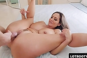 Not roundabout despondent MILF PAWG give boastfully pair together with broad in the beam nuisance gets fucked