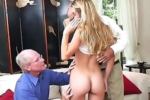 Teen Hottie Molly Mae Lets Aged Bobtail Grope Say no to