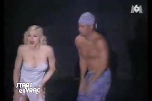 Madonna nipple @ nocturnal take into consideration pajama troop