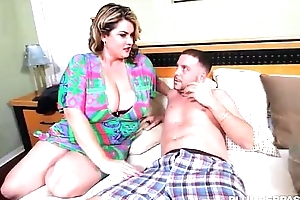 Low-spirited bbw milf fucks get out emerge affiliate limitation wild corps