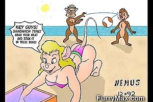 Flossy cartoons adulate dicks!