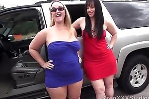 Twosome bitches fianc� strangers down neighbourhood
