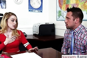Pulchritudinous schoolgirl alexia white-headed enjoyment from say no to trainer