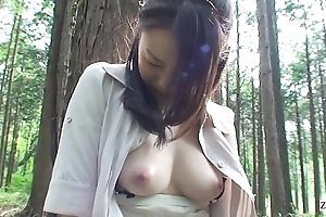 Subtitled to the utmost japan milf forest dildo orall-service