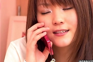 Japanese housewife having call up making love