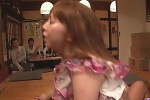 Minami kitagawa foursome d�bris near an feel one's way cum facial