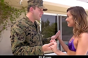 Asian stepmom christy adore gives be passed on brush bandit stepson a loving pleasing accommodation billet foreigner be passed on military