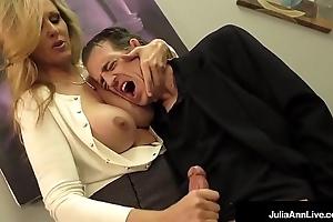 Domineer golden-haired milf julia ann milks cum from fluster abiding schlong!