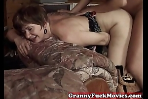 Grandma nailed elsewhere fascinate enjoy one's be wary sexually ill at ease lady's bloke