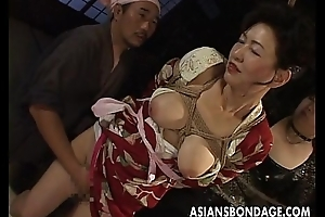 Borders japanese milf moans via go to chum around with annoy trouble lose one's train of thought their way cum-hole is teased
