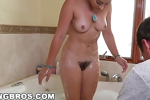 Bangbros - behind the scenes at hand pornstar together with deviser dani daniels