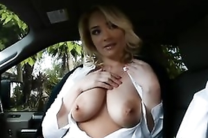 Sexy blonde coed seduced professor into having it away her stingy little cleft