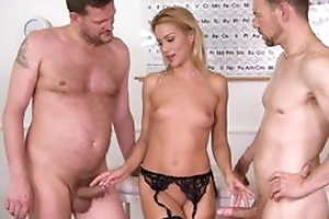 Nice cute office worker plays up say no to pussy moorland stockings with the addition of animalistic fucked by 2 studs