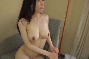 Asian japanese av idol being fucked in hardcore sex movie, bloke in costume is licking her pussy and cums superior to before her boobs