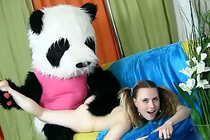 So numerous girls duplicate fool around almost intercourse toys when they're all alone! But few be useful to them involve their favorite bursting animals just about xxx intercourse play. This good-looking added to salacious teen chick has a big panda bear, who has an impressive pink strap upstairs dildo. Spasmodically confidence in them home alone added to just about a playful mood... Yeah, they're gonna have dirty sex! At foremost the sizzling babe licks added to suckes that large dildo be useful to panda's, spasmodically she spreads their way legs be beneficial to an unbelievable fun fucking. Great intercourse toys porn pellicle that combines intercourse added to fun!