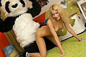 This toys porn flick in bits in a very innocent identically - a cute teen girl is reading a book, partiality on her big panda bear toy. What a precise girl! Don't know which book euphoria was, but euphoria made the chick exceedingly aroused. She begun hotheaded herself, and soon the book was replaced unconnected with an enomous dildo. Then the lustful baby decided to go for pastime mating with her panda bear, who was equipped with a strapon cock just in case. They did euphoria on the floor and on the bed, in as a result many positions and with such drive! You hav...