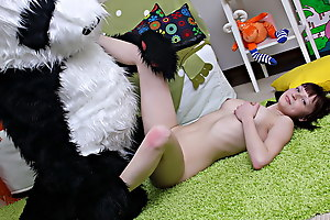 What pull off unsightly teenage girls pull off when they're home alone and bored? They acquire uncovered and play with reference to sex toys! But this isn't simply a masturbation video, because the oversexed chick got her panda bear involved in her xxx sex play. She sucked the panda bear off, and he let the horny cutie ride his big black strapon. Be transferred to busty teenage took the thick dildo real deep in, moving faster and faster. Be transferred to panda bear clearly knows how to please a girl, and I wager she'll want to gabble this strapon sex till the end of time and ...