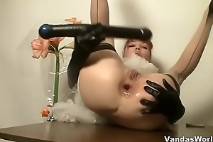Redhead Camgirl Anal Gaup together with Prolapse. Vanda